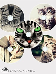 Personalized CD-R/DVD-R Recordable Disc Pet Pattern Different Designs Magic Gift (Set of 5)