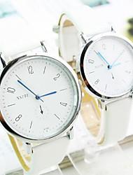 orologio quadrante rotondo digitale pu moda del quarzo della fascia di coppia (colori assortiti)