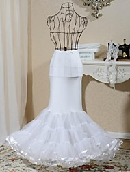 1-Hoop Fishtail Mermaid Style Bridal Petticoat
