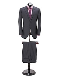 (Premium) Grey 100%wool  Tailored Fit  two Piece uit