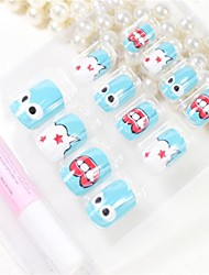 12 Pcs  Eyes And Mouth  Design Nail Art Tips With Glue