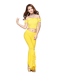Belly Dance Dancewear Women's Crystal Cotton Elegant Soft Belly Dance Outfits Including Top And Bottom(More Colors)