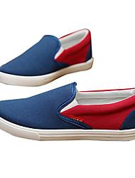 Zapatos de Hombre Mocasines Casual Tela Negro / Azul