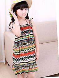 vestido + collar de colores de moda tanque bohemia niños ropa de playa de la muchacha