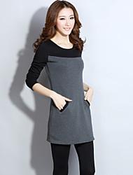 Delargent Women's Elegant Slim Warmth Long Sleeve Dress
