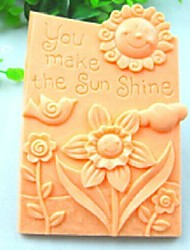 You Make The Sun Shine Bird Flower Fondant Cake Chocolate Silicone Mold Cake Decoration Tools,L10.6cm*W8.1cm*H3cm
