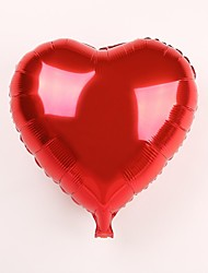 Wedding Décor 18 Inch Red Heart Metallic Balloon