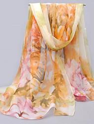 женщины красочные цветы вуали шарфы верблюд шифоновый шарф шали