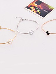 Women's Chain/Fashion/Personalized Bracelet Alloy/18K Gold Plated Cubic Zirconia
