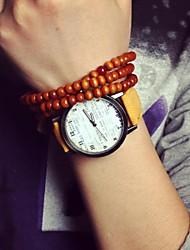 reloj de la correa de vaquero británico de la vendimia de las mujeres (colores surtidos)
