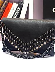INLEELA®Women's Skull Rivet Chain One Shoulder/Crossbody Bag