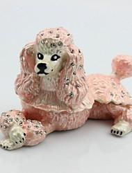 porta treco poodle caixa de jóias cão