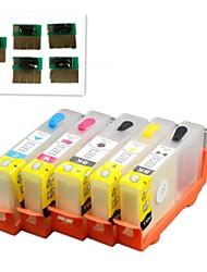 Dauer Chip PS 364bk 364c 364m 364y nachfüllbare Tintenpatrone für HP Photosmart Pro B8550 / b109b / C310a-aio / Fax C309a