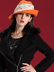 mulheres modernas 100% lã chapéus de feltro&CHAPÉU casuais (mais cores)