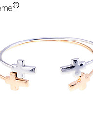 Lureme®Corss Cuff Bangle Set