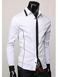 camisa de manga larga de cuello de solapa informal de los hombres de pescado