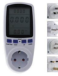 Mini EU/AU/US/UK Plug Power Energy Socket Meter Analyzer Plug LCD Monitor KWH Watt Voltage Meter Ammeter Outlet