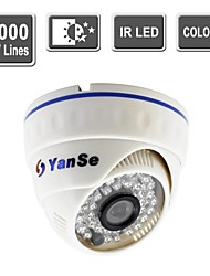 yanse® kleur cctv ir dome camera vision security indoor bewakingscamera's -1000tv lijnen 808cfw