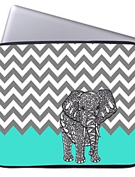 "Elonbo Chevron and Elephant 15"" Laptop Waterproof Sleeve Case for Macbook Pro Retina Dell HP Acer"