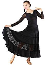 Ballroom Dancewear Women's  Lace Qmilch Ballroom Modern Dance Dress  (More Colors)
