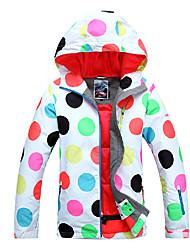 Women's Ski Ski/Snowboard Jackets Waterproof / Breathable / Wearable / Windproof / Thermal / Warm White / Black / OthersSkiing / Camping