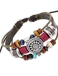 Women's Fashion Retro Leather Bracelet