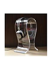 en forme de u acrylique casque / oreillette suspension stand de support - blanc translucide