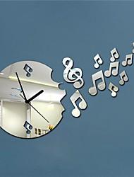 20 «musique h cartoon style moderne note 3d bricolage miroir acrylique horloge murale