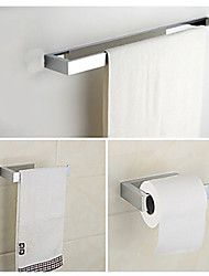 3 Pcs Bathroom Accessory Sets,Chrome Finish Bass Material,Bathroom Collection Set