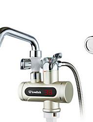 chauffe-eau électriques numériques robinet d'eau froide chaude à double usage écran d'affichage de champagne h3