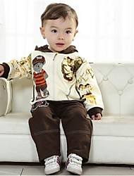Children's Clothing Boys Three Pieces Sets Baby Set Boy Suit Bear Tshirt and Jacket Pants