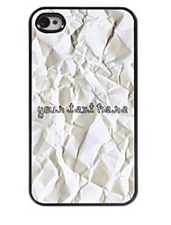 Personalized Phone Case - Paper Design Metal Case for iPhone 4/4S