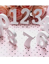 0-9 Wooden Numbers Wall Hanging/Door/Sign/Nursery Word Wedding Birthday Baby Shower Christmas Party Decotration