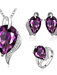 Women's Classical Purple Zircon Jewellery Set(1Set)