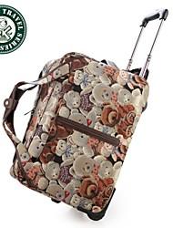 Daka Bear® equipaje gimnasio de cuero genuino bolso marinero viajes equipaje en la maleta de mano-