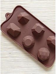 6-Loch-Diamantform Kuchenform Eis Gelee-Schokoladenform