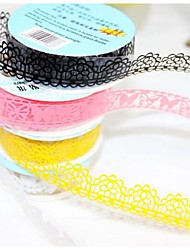 Lace Adhesive Tape Masking Tape Decorative Stickers Stationery for Scrapbooking (1.8*100cm,Random Color)