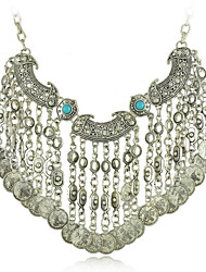 collar vintage joyas étnicas collar de la moneda boho declaración gitana