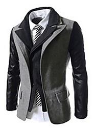 lapela pescoço slim fit jaqueta masculina de taxa