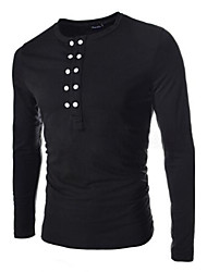 Men's Multi Button Long Sleeve T-Shirt