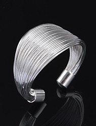 Woman's Fashion Personality Coil Silver Adjustable Open Ring