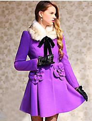 DABUWAWA Women's Elegant Thermal Solid Color Coat
