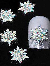 10pcs   3D Colorfull Rhinestone Flower DIY Alloy  Accessories Nail Art Decoration