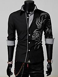 Vito Men's Casual Shirt Collar Long Sleeve Casual Shirts