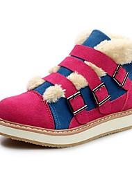 botas de los zapatos de la nieve de las mujeres del talón plana botines de ante más colores disponibles