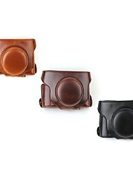 Dengpin Retro Detachable PU Leather Oil Skin Camera Protective Case Bag Cover with Shoulder Strap for Fujifilm X30