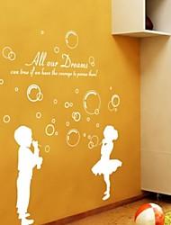 Bolhas de sopro de adesivos de parede