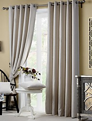 Two Panels Curtain Modern Neoclassical Mediterranean European Country Living Room Polyester Material Blackout Curtains DrapesHome