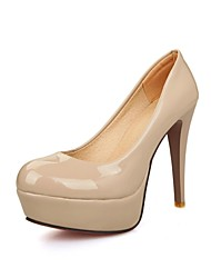 zapatos de tacón de aguja del talón del cuero de patente de las mujeres bombea los zapatos más colores disponibles