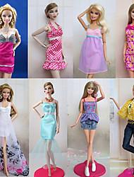 8 Pcs Barbie Doll Sweet Princess Urban Leisure Style Costume